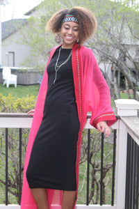 Pink & Red Traditional Tunic/Abaya