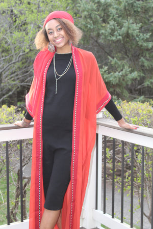 Orange Tunic/Abaya