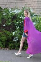 purple  & red color tunic
