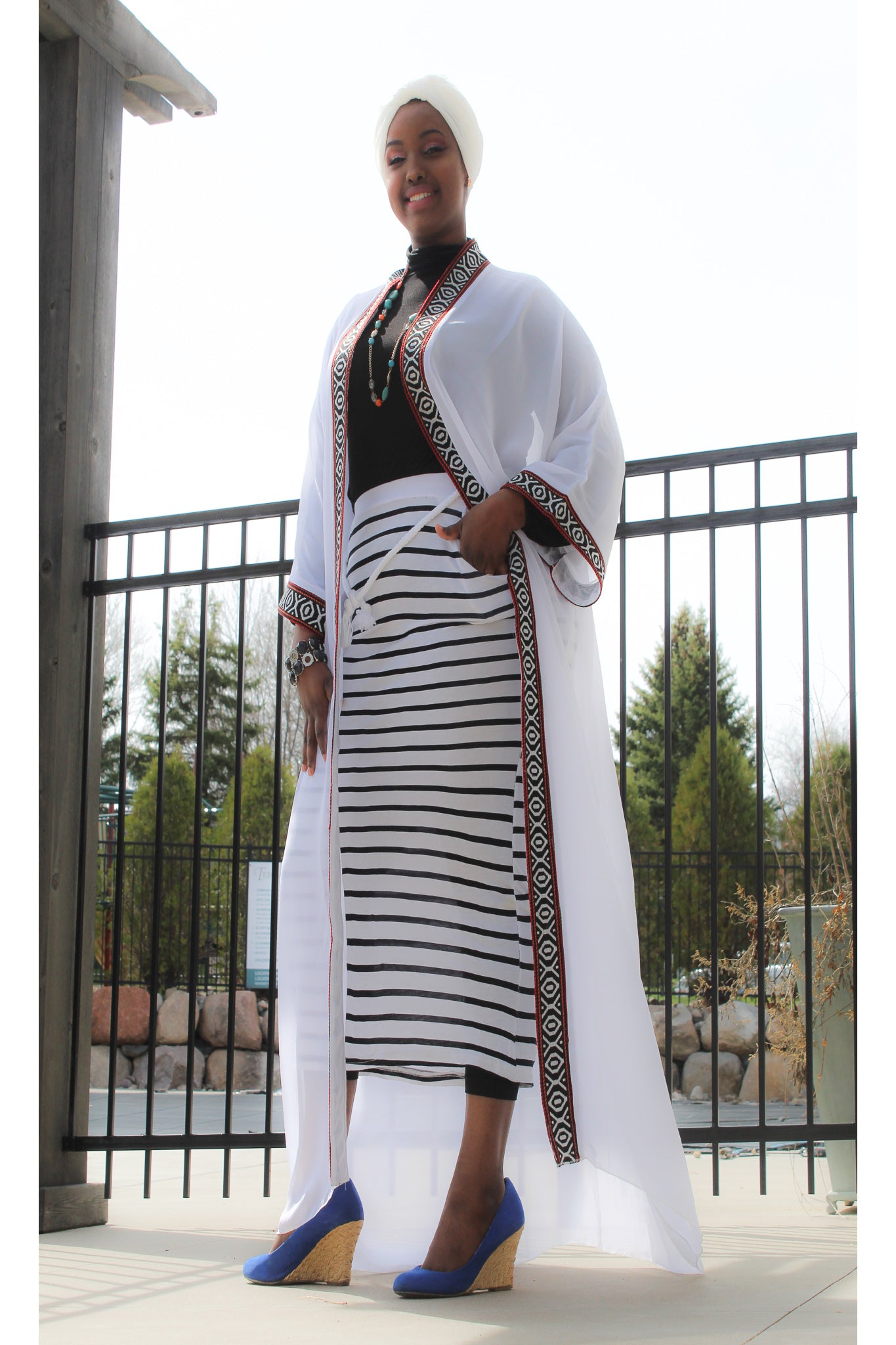 white/Red Traditional Tunic