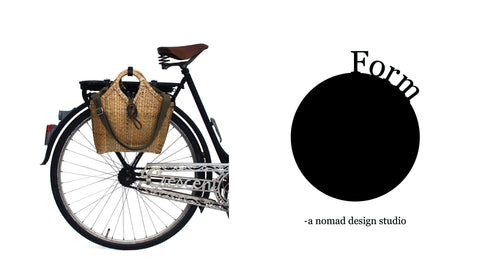 Pako bamboo bicycle bag - handcrafted
