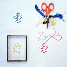 Load image into Gallery viewer, The future is equal. DIY embroidery kit in pink yellow and blue
