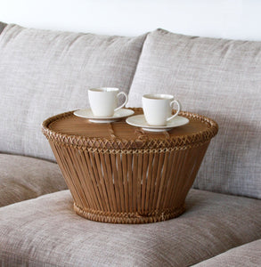 Pako tea table handmade in bamboo and rattan