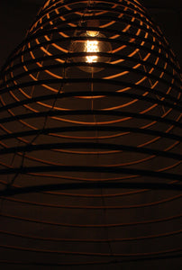 Wish lamp handmade in rattan. Big