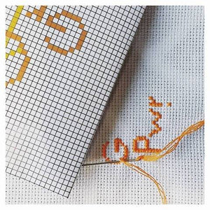The future is equal. DIY kit embroidery in orange