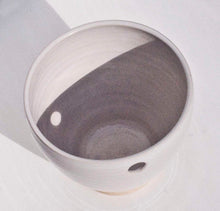 Load image into Gallery viewer, Single cup handmade ceramic cup with a hole. Handgjord keramik kopp med ett hål.