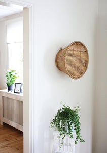 Pako handmade table lives on the wall when not in use