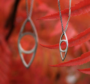 Eye pendant small and big handmade in 925 sterling silver