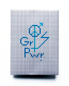The future is equal. DIY kit embroidery in blue
