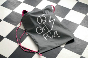 "Gym bag ""The Future is equal"". Recycled fabric"