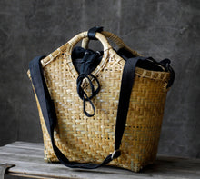 Load image into Gallery viewer, Bamboo and rattan handbag , handmade