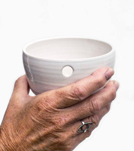 Single cup in ceramic, hand thrown