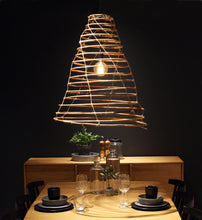 Load image into Gallery viewer, Wish lamp handmade in rattan. Small