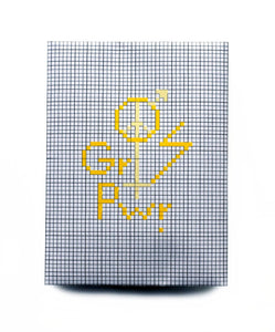 The future is equal. DIY kit embroidery in yellow