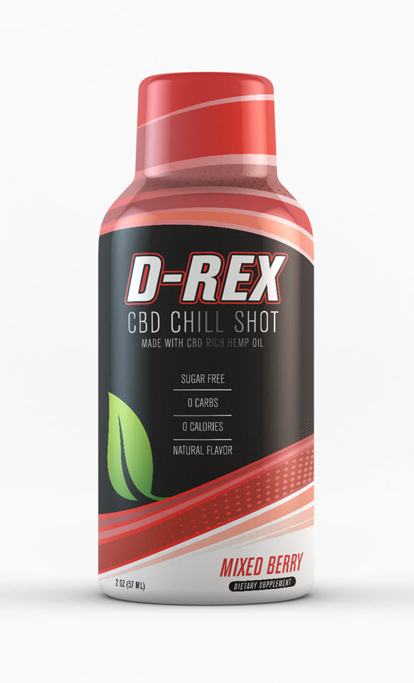 D-Rex CBD Shot Mixed Berry Flavor (12 pack)