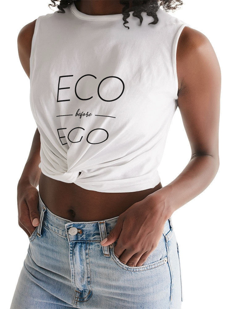 Eco over Ego Women's Twist-Front Tank