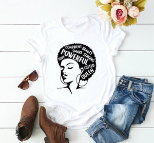 Afro Lady Girl Power Tshirt