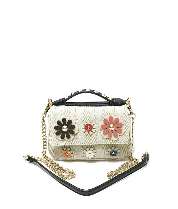LEA FLAP OVER FLOWER PATCH MINI SHOULDER