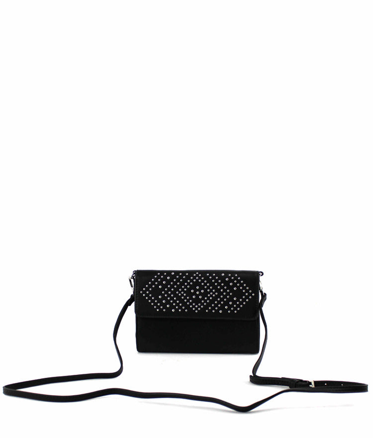 NINA STUDS EMBELLISHED WALLET CLUTCH