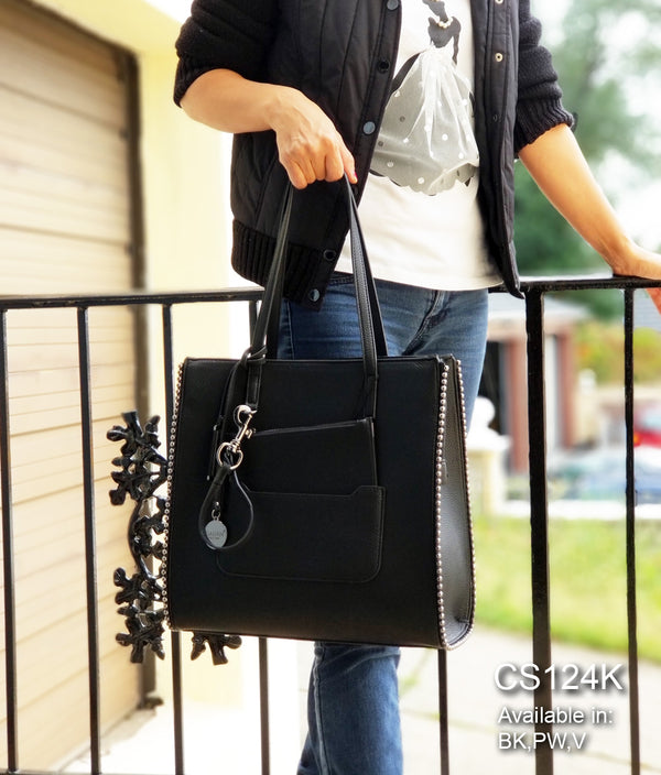 AUDREY BALL STUDS LARGE TOTE