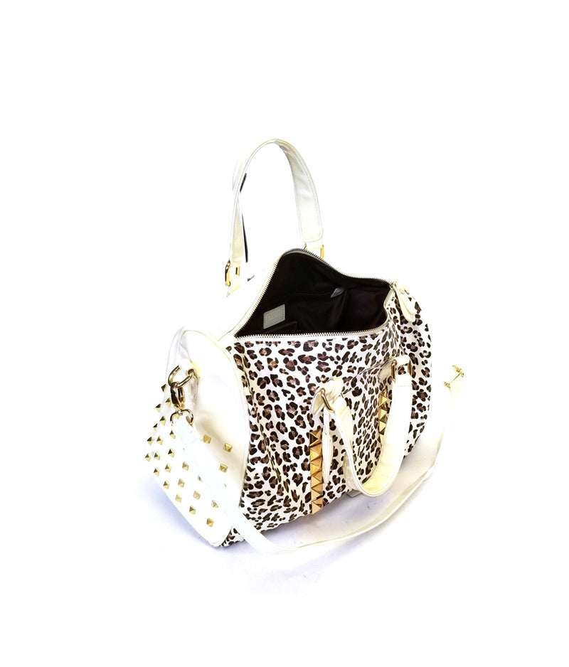COUGAR LEOPARD ZIP TOP CLOSURE DOUBLE HANDLE SPEEDY