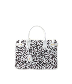 COUGAR LEOPARD ZIP TOP CLOSURE DOUBLE TOP HANDLE
