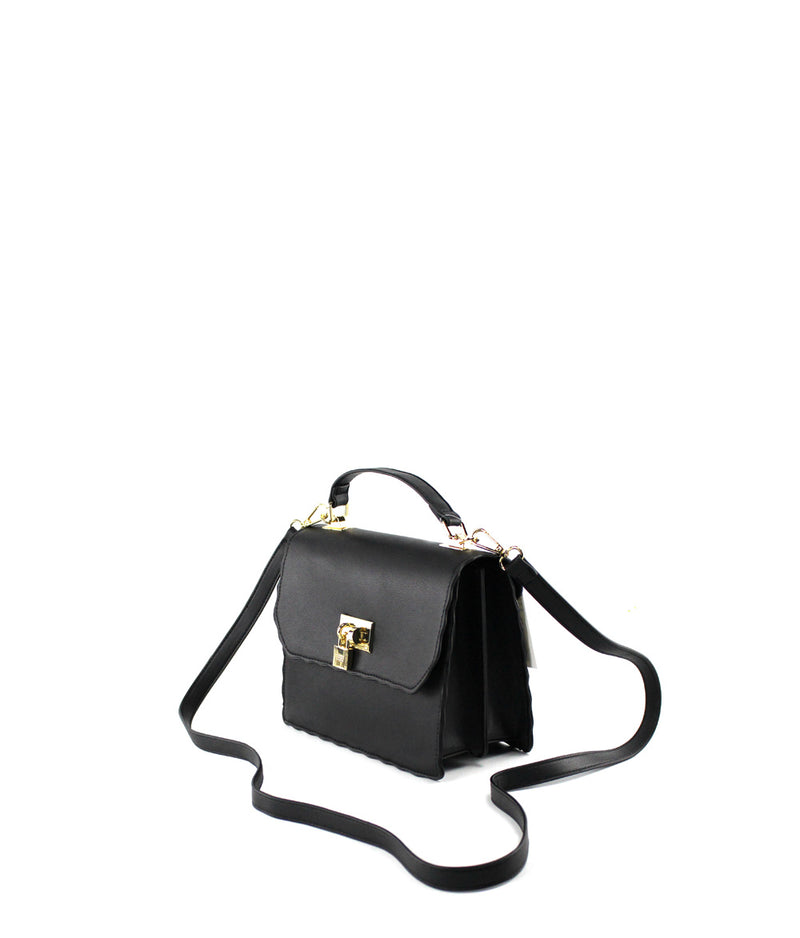 VICTORIA RUFFLE EDGE FLAP OVER CROSSBODY
