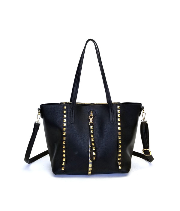DIANA PYRAMID STUDS LARGE TOTE