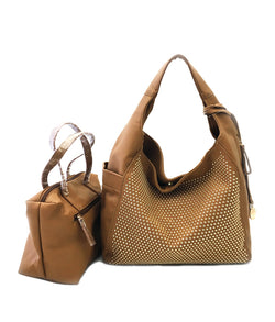 BONNIE SMALL STUDS MAGNETIC CLOSURE HOBO