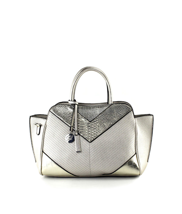 XENIA METALLIC MEDIUM SATCHEL
