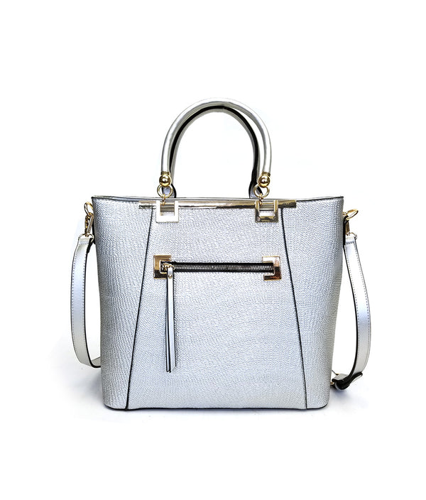 ALICE METALLIC LARGE ZIPPER TOTE