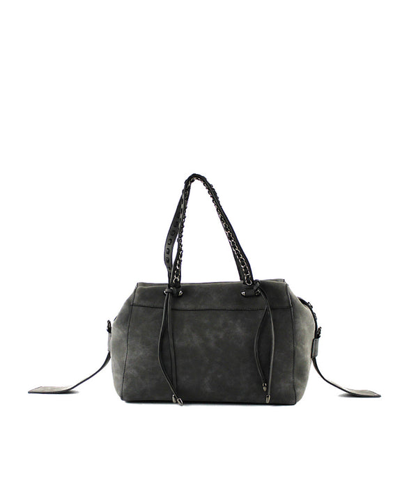 CLAIRE TOP ZIPPER CLOSURE CHAIN STRAP DUFFLE