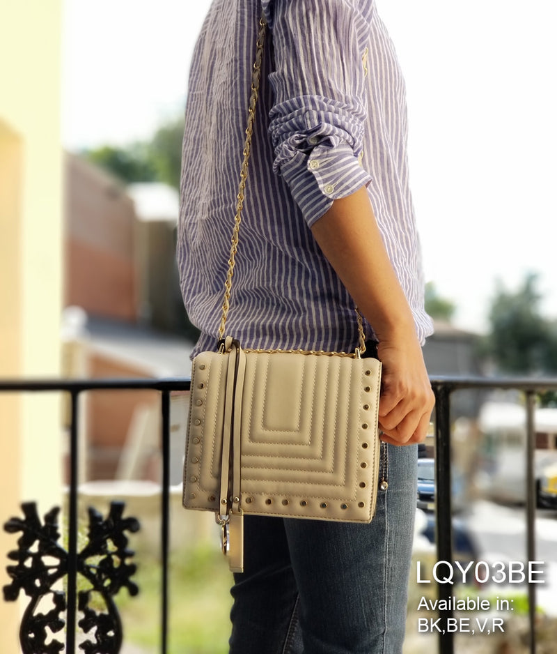 ELISE QUILTED FLAP OVER CROSSBODY