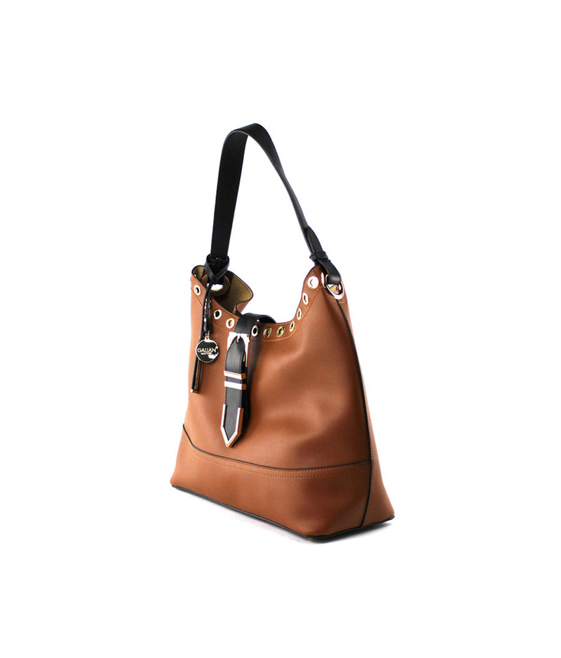 HAZEL BUCKLE EYELETS LARGE HOBO