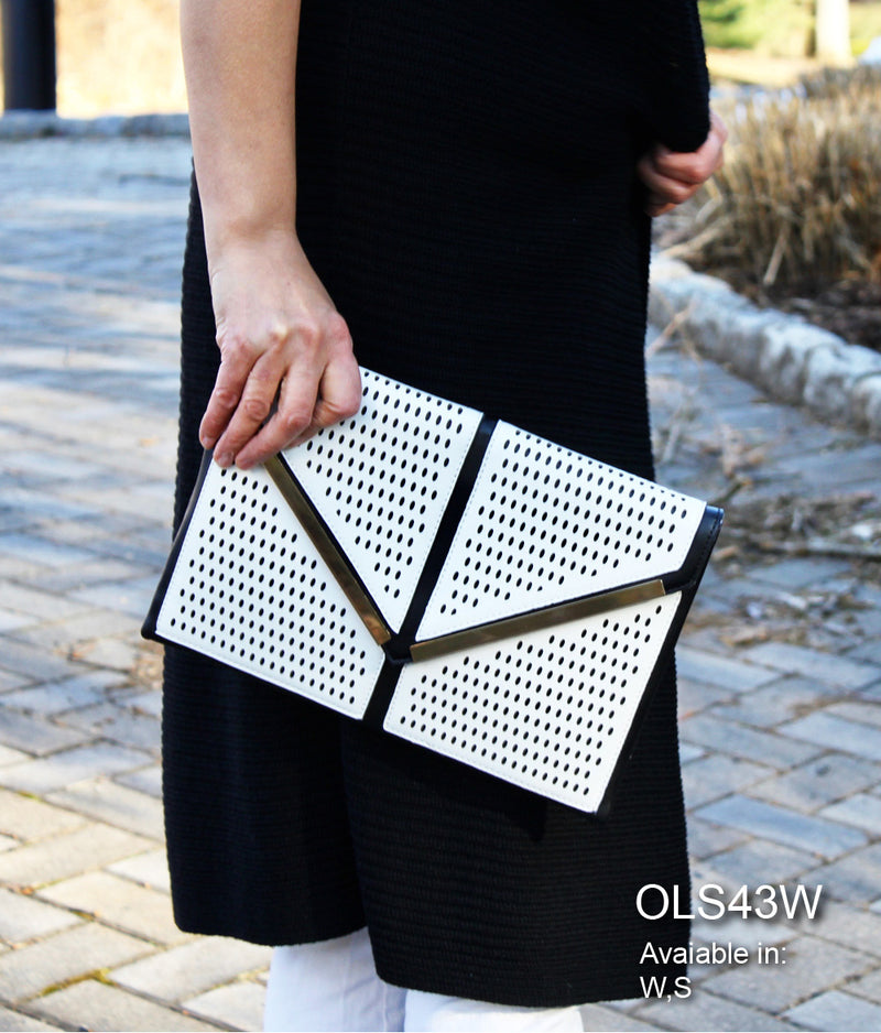 KAYLE METALLIC  LASER CUT CLUTCH
