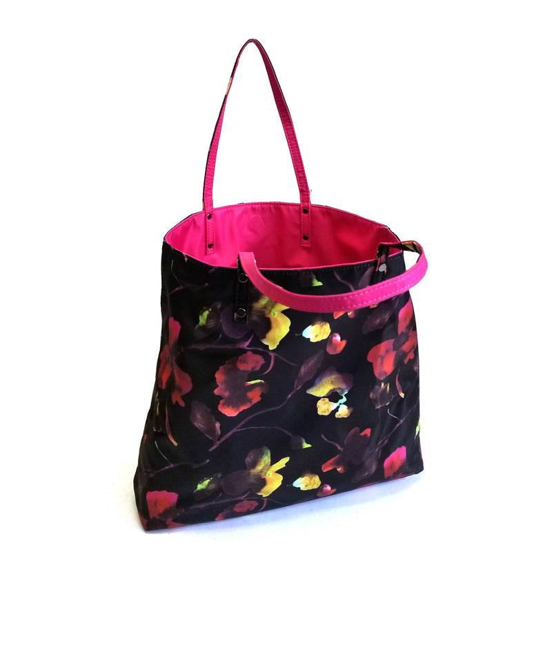 DAISY FLORAL TWO IN ONE DOUBLE HANDLE TOTE