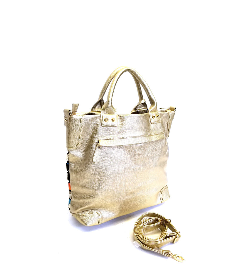 OCEANA LINK TOP ZIP CLOSURE TOTE