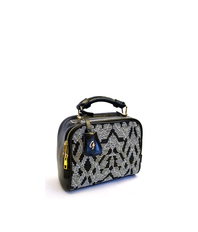 ELLA JACQUARD PATTERN ONE HANDLE SATCHEL