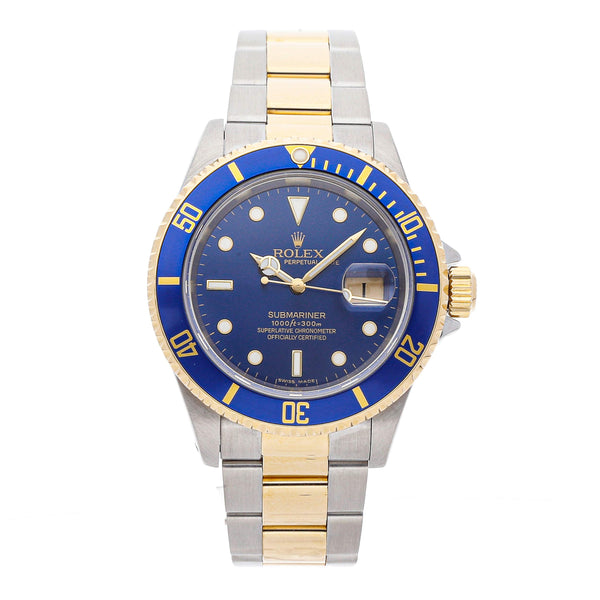 Rolex 18K Blue Submariner Oyster Watch