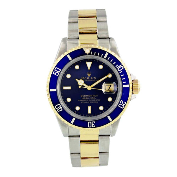 Blue and Gold Rolex Oyster Submariner