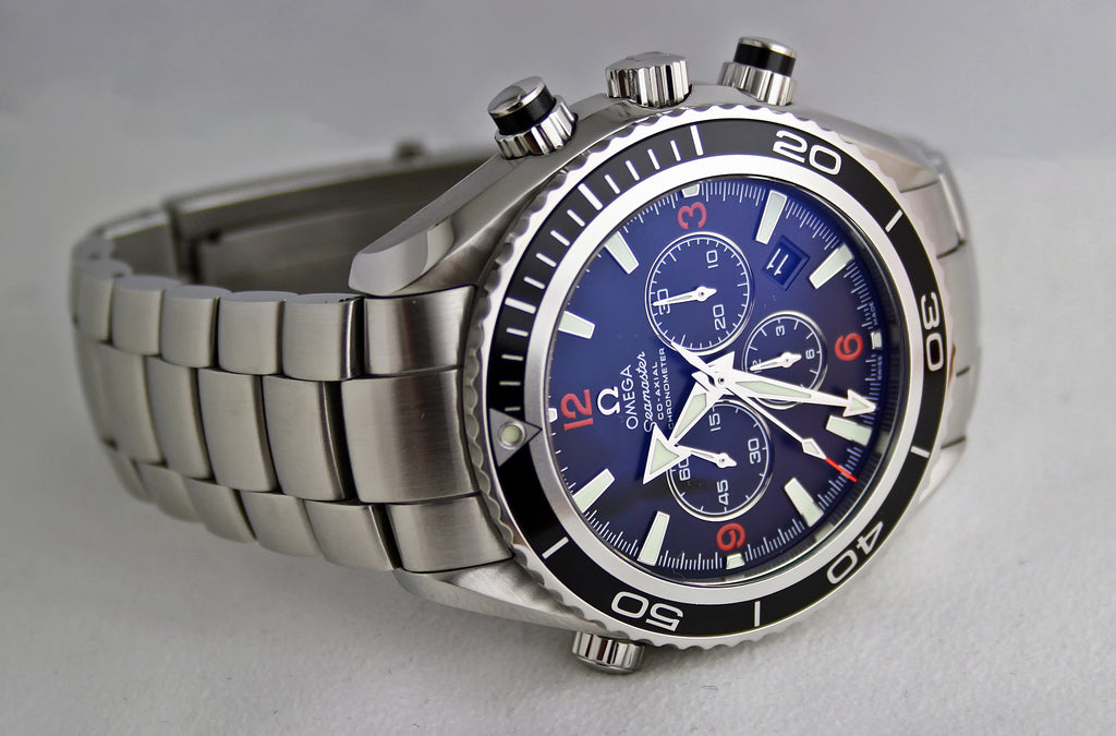 Image of Omega Luxury Watch with Blue Dial