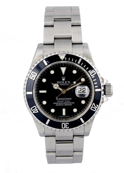 Black Vintage Rolex Submariner Chronograph
