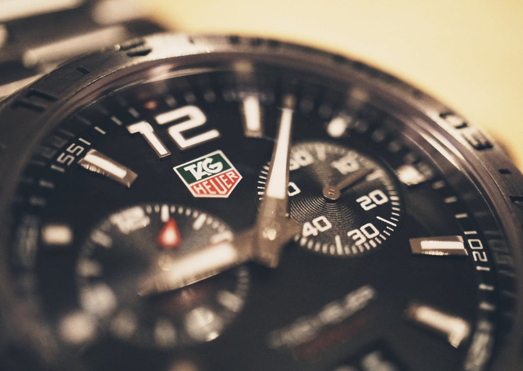 Image of Tag Heuer Luxury Watch Face Zoomed In