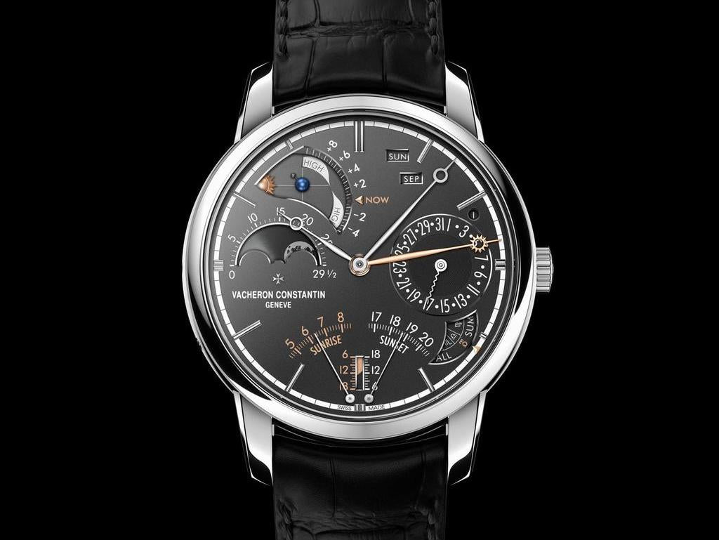 Black and Silver Vacheron Constantin Watch