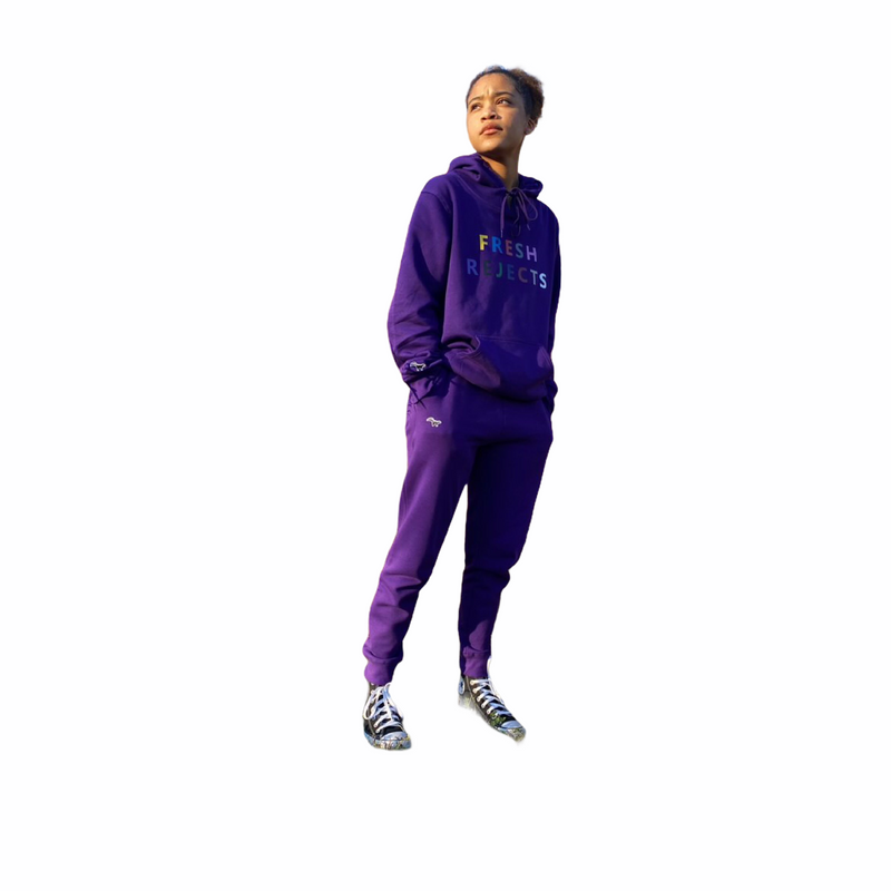 Multicolour FR /  skunk patch jogger suit