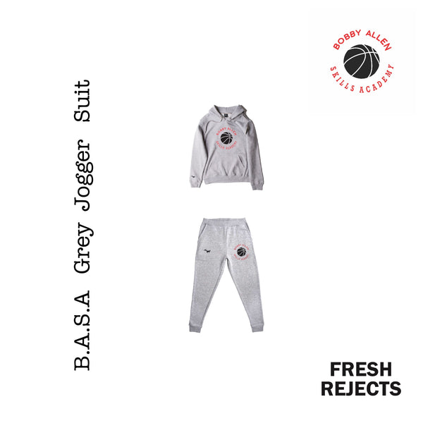 B.A.S.A  :  Grey | hoodie   Unisex Adult