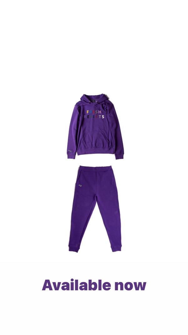 Purple Multi colour skunk patch | hoodie