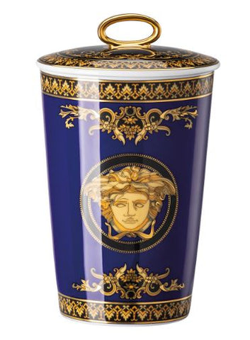 Rosenthal, Versace, Scented Candle Medusa Blue.