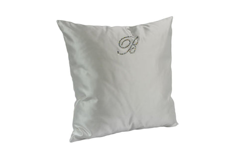 BLUMARINE, CUSHION LIVING WHITE 42*42CM, W/ SW. CRYSTALS