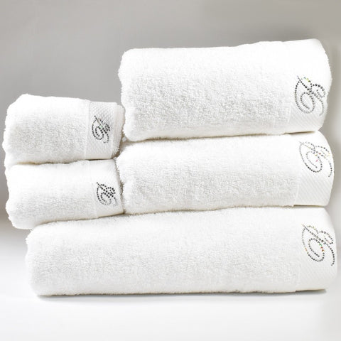 BLUMARINE, BENESSERE SET 5 TOWELS WHITE